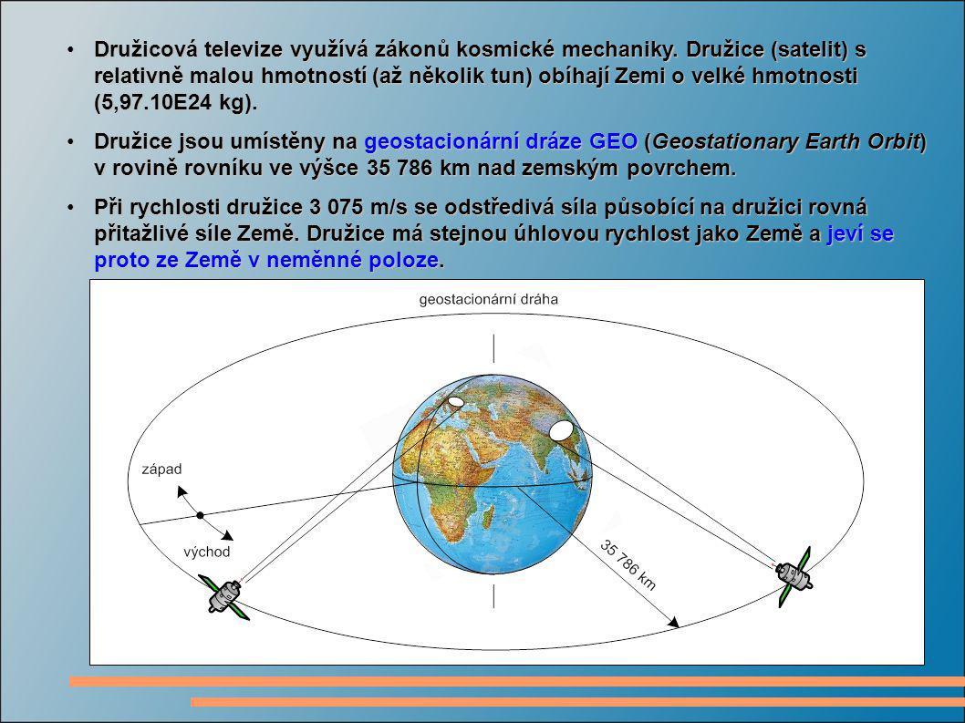 Družicová televize využívá zákonů kosmické mechaniky. Družice (satelit) s relativně malou hmotností (až několik tun) obíhají Zemi o velké hmotnosti (5