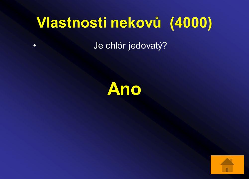 Vlastnosti nekovů (4000) Je chlór jedovatý? Ano