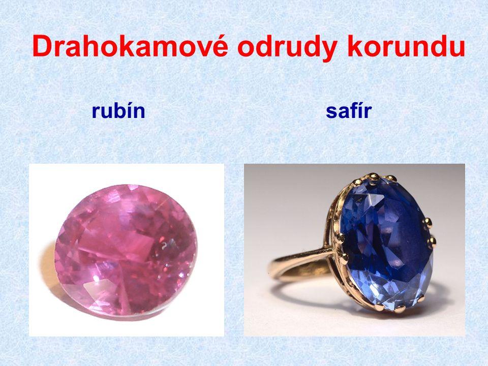 Drahokamové odrudy korundu rubín safír