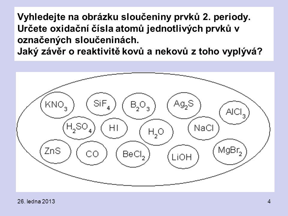 Vyhledejte na obrázku sloučeniny prvků 2. periody.