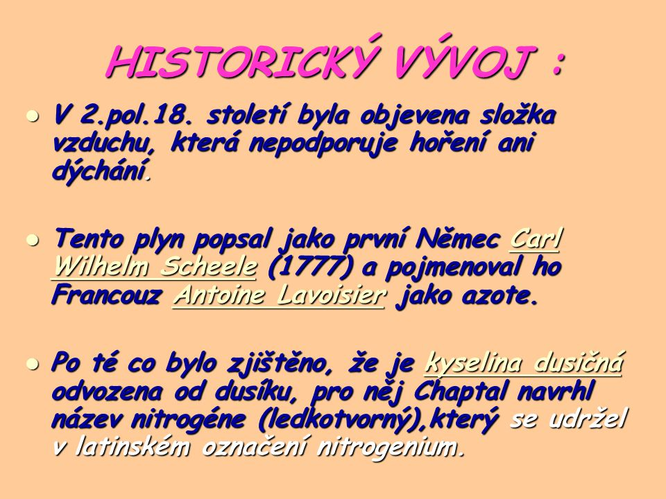 HISTORICKÝ VÝVOJ : V 2.pol.18.