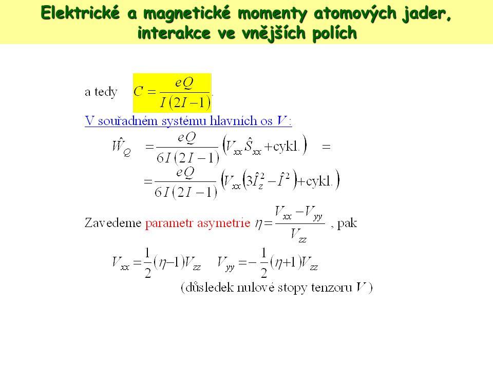 Mionová spinová rotace Mion...1/9 M protonu, spin ½, elementární náboj, magn.