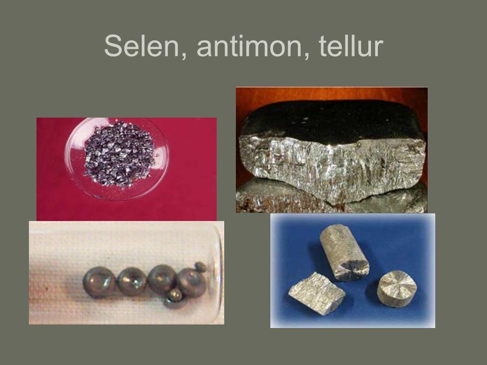 Selen, antimon, tellur