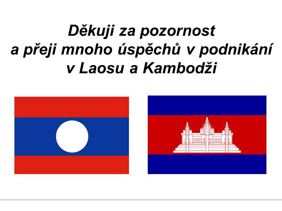 Děkuji za pozornost a přeji mnoho úspěchů v podnikání v Laosu a Kambodži
