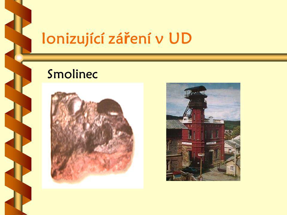 Ionizující zá ř ení v UD Smolinec