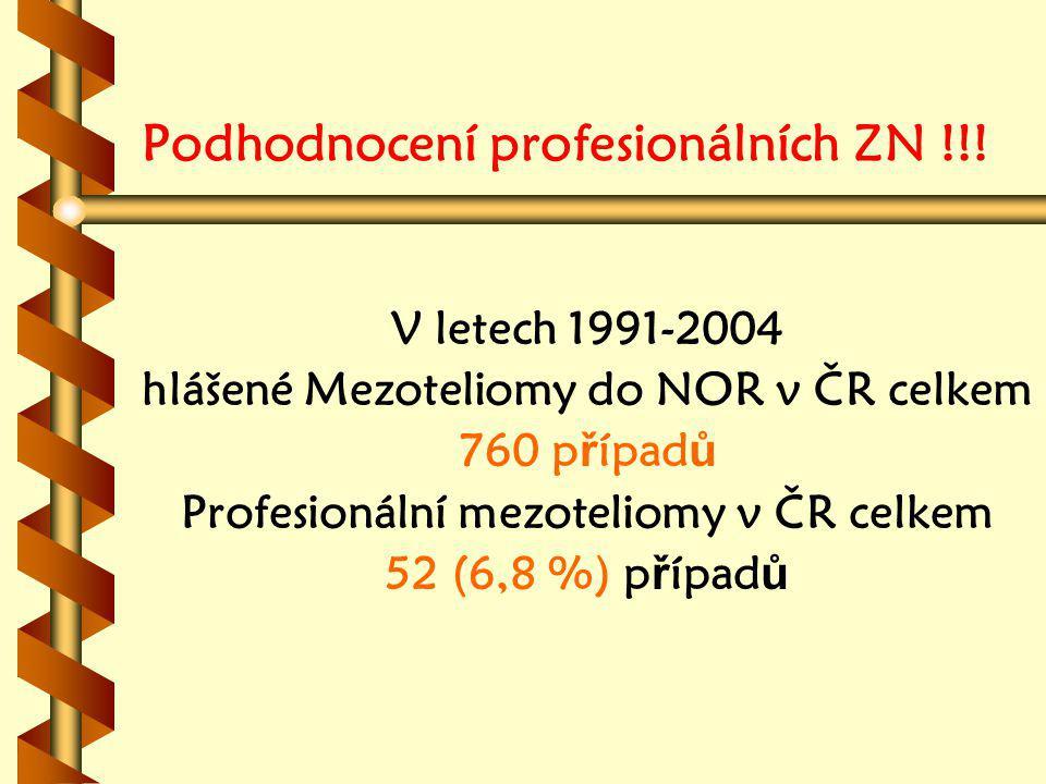Podhodnocení profesionálních ZN !!.