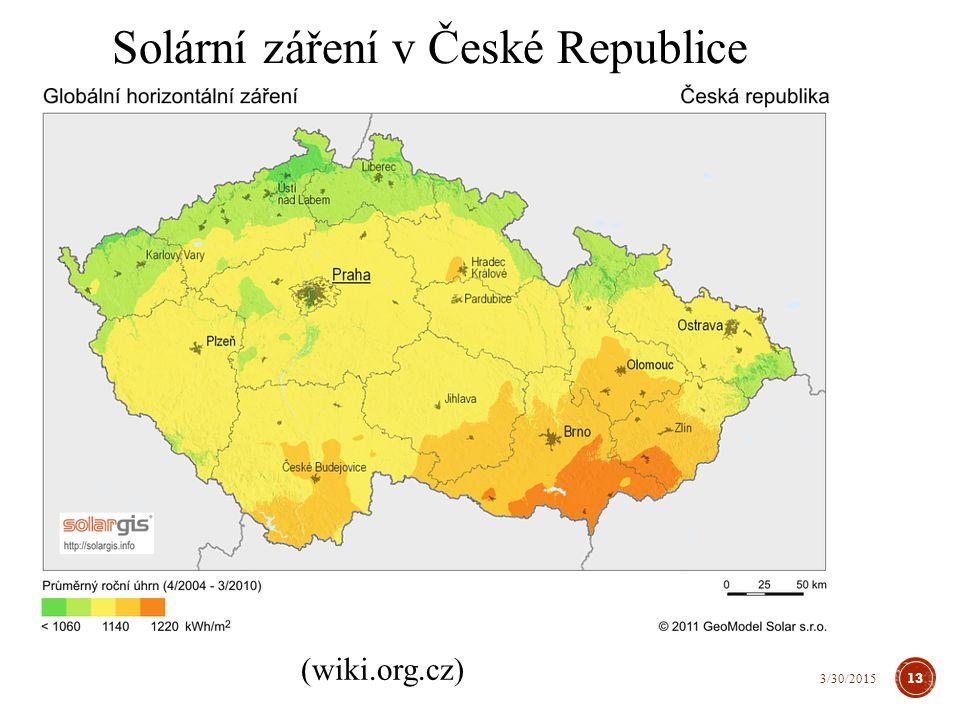 Solární záření v České Republice (wiki.org.cz) 13 3/30/2015