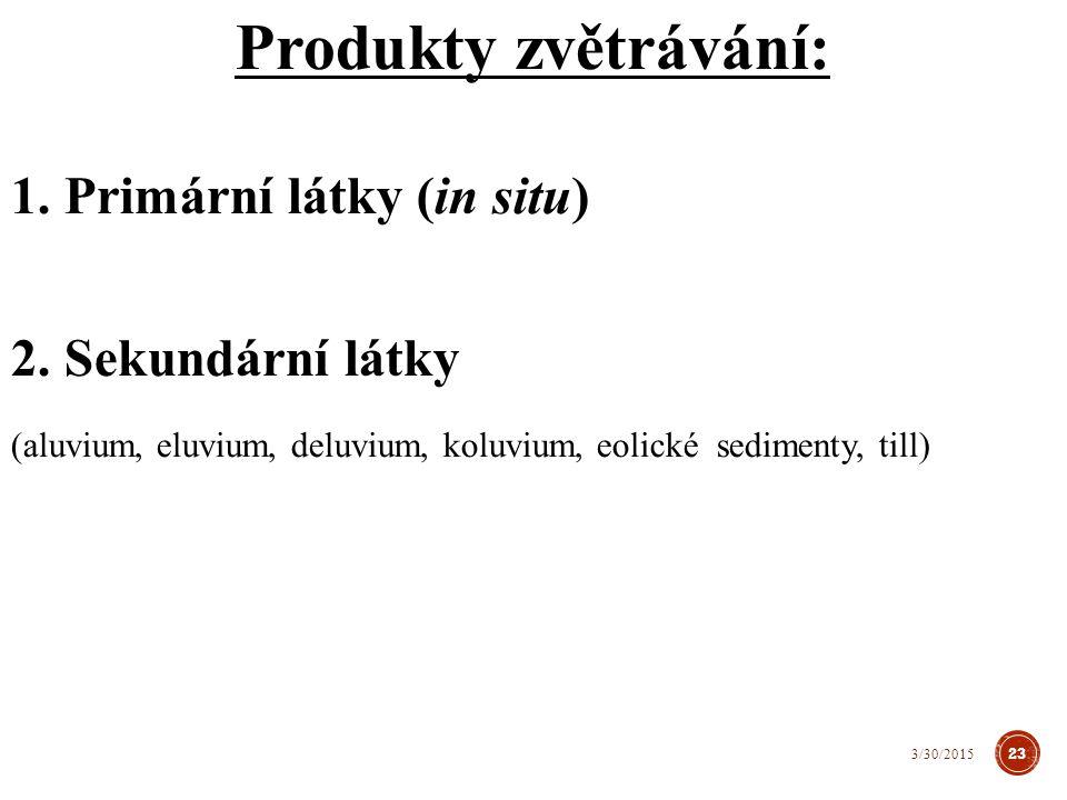 Variabilita poměru OL a AL → vertikální stratifikace půdy → variabilita půdních typů Produkty zvětrávání www.pedologie.cz 24 3/30/2015