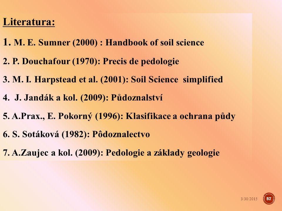 http://ekologie.upol.cz http://geotech.fce.vutbr.cz/studium/geologie http://geology.cz http://geofond.cz http://home.czu.cz http://petrol.sci.muni.cz http://mineralogie.sci.muni.cz http://cs.wiki.org http://web2.mendelu.cz/af_221_multitext http://cs.wikipedia.org/wiki/Insolace 58 3/30/2015