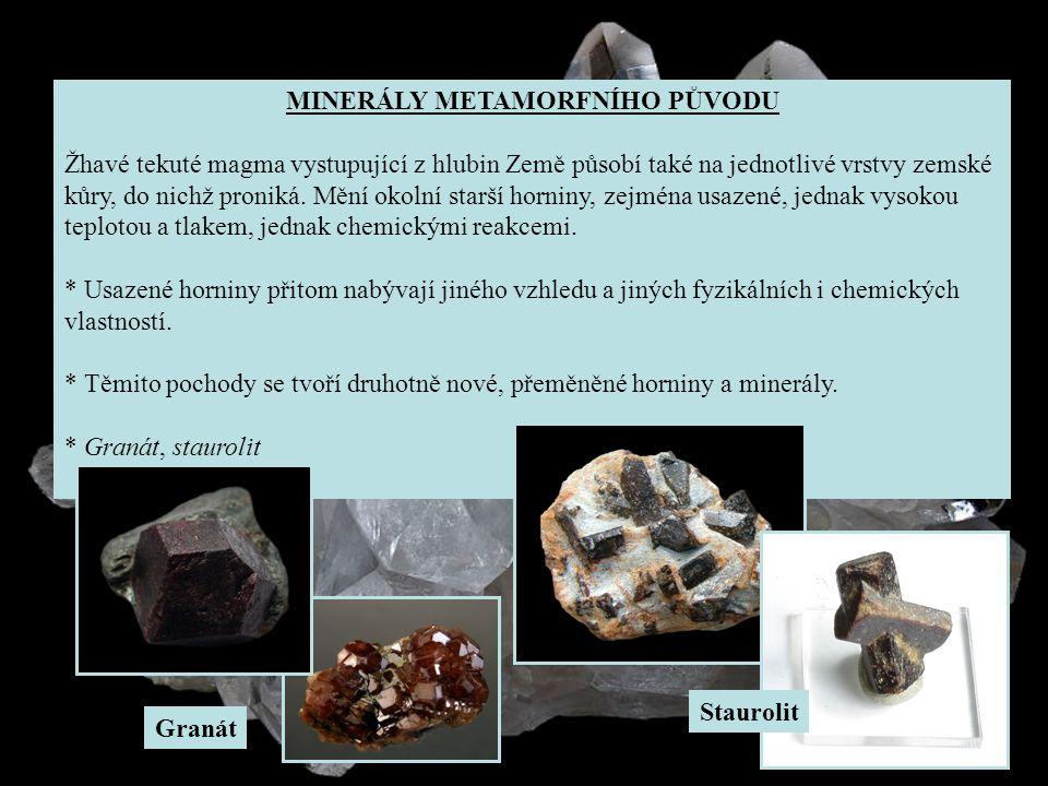 Přehled Strunzova mineralogického systému 1.třída1.