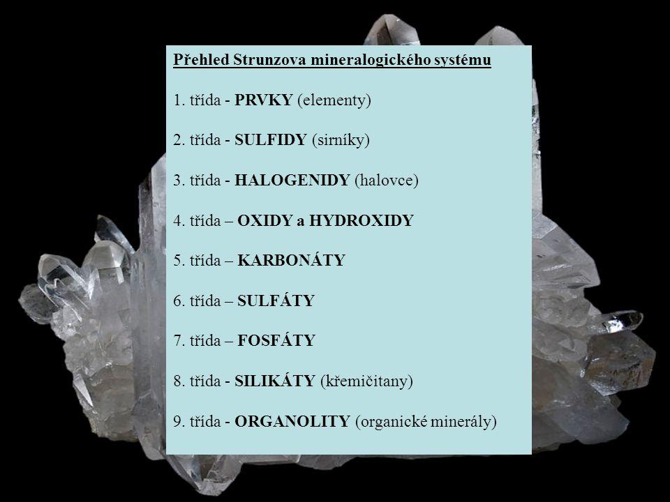 PRVKY Ryzí prvky jsou volné, nesloučené prvky, které rozdělujeme do tří skupin: * KOVY - zlato, stříbro a měď * POLOKOVY - arsen, antimon * NEKOVY - uhlík, síru * Kovové prvky jsou velmi kompaktní, ohebné, kujné a tažné.
