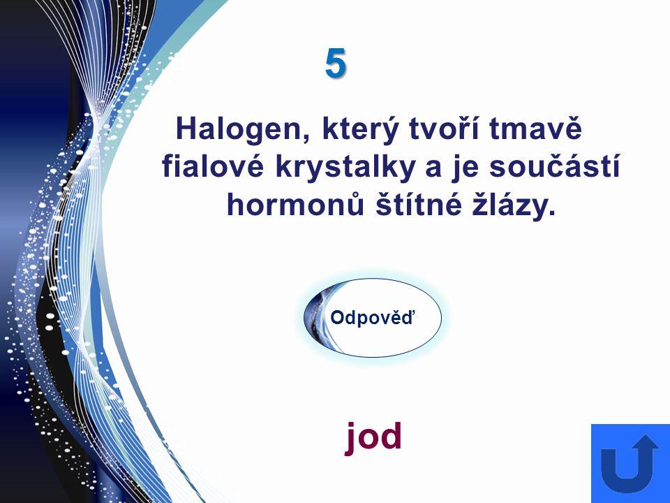 26 Odpověď sodík Měkký stříbrošedý kov, dá se krájet nožem, s vodou velmi prudce reaguje než shoří a jeho významnou sloučeninou je sůl kamenná.