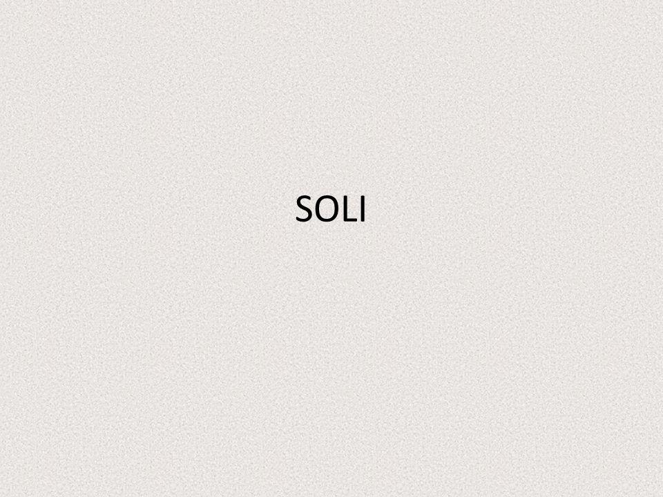 Soli jsou chemické sloučeniny složené z kationtu kovu a aniontu kyselin.