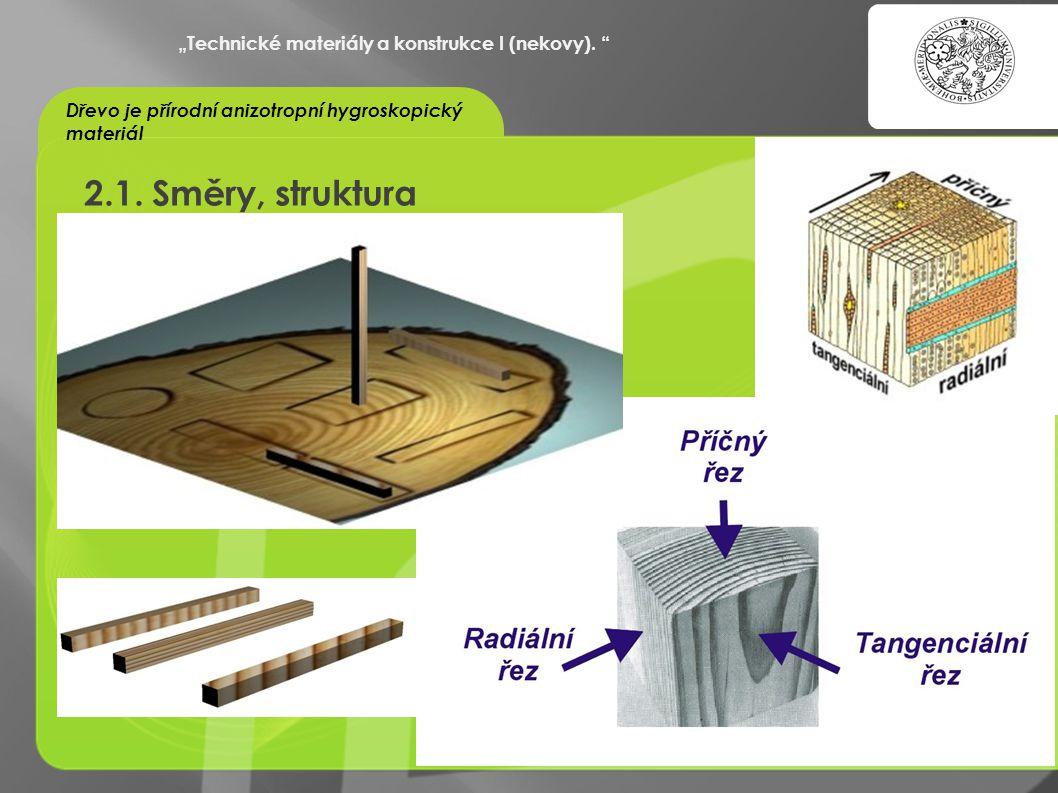 """""""OCHRANA DUŠEVNÍHO VLASTNICTVÍ - KOMERCIALIZACE VÝSLEDKŮ VAV 2.1. Směry, struktura """"Technické materiály a konstrukce I (nekovy). """" Dřevo je přírodní a"""