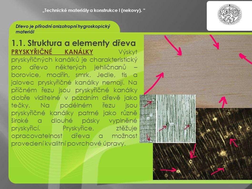 """""""OCHRANA DUŠEVNÍHO VLASTNICTVÍ - KOMERCIALIZACE VÝSLEDKŮ VAV 1.1. Struktura a elementy dřeva PRYSKYŘIČNÉ KANÁLKY Výskyt pryskyřičných kanálků je chara"""