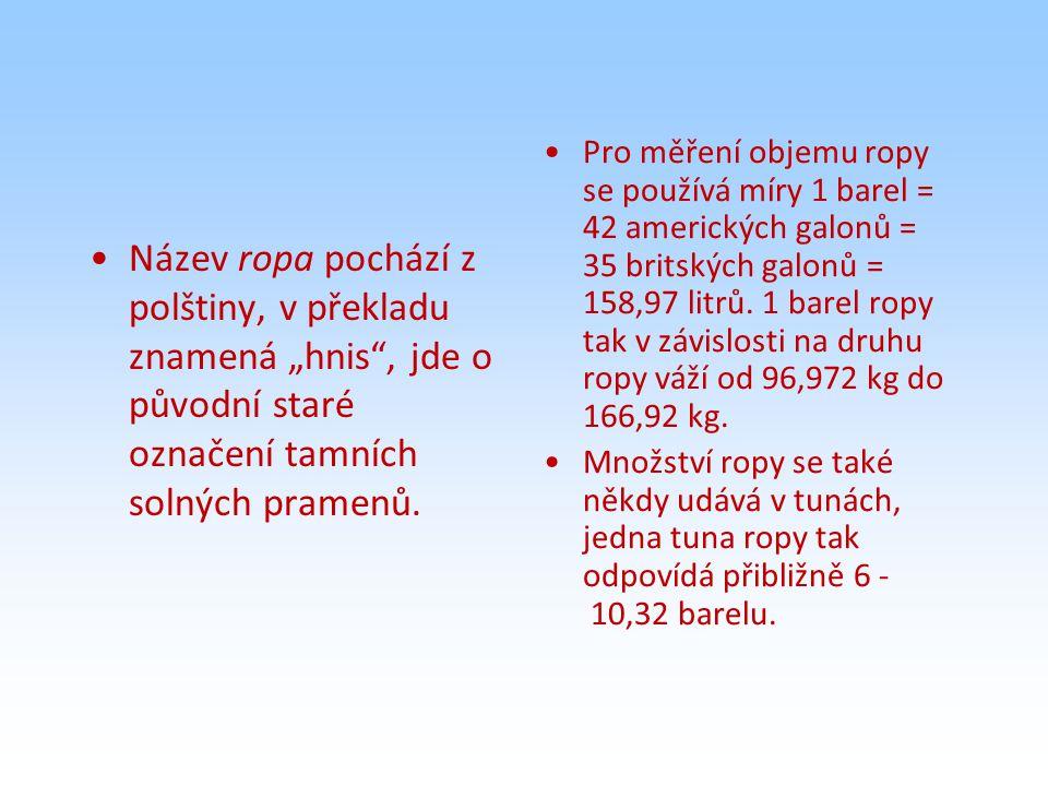 """Název ropa pochází z polštiny, v překladu znamená """"hnis , jde o původní staré označení tamních solných pramenů."""