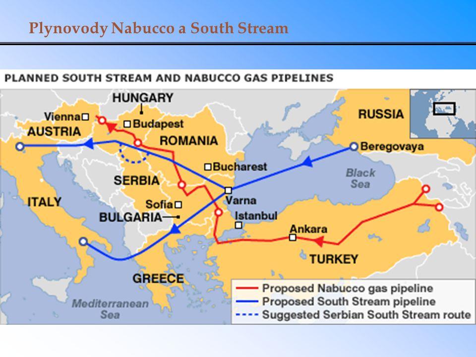 Plynovody Nabucco a South Stream