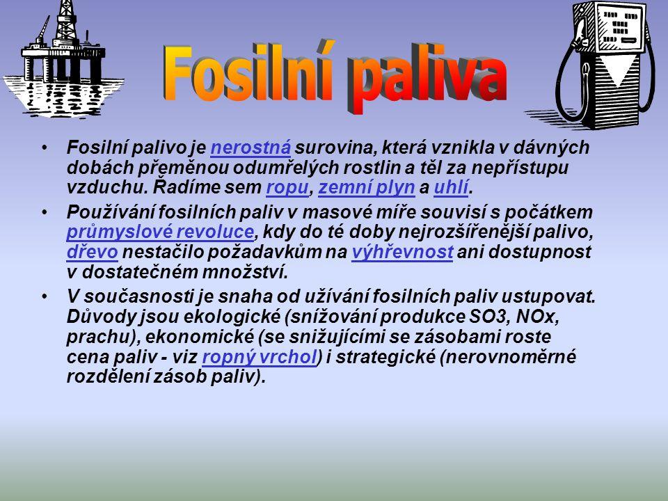 Fosilní palivo je nerostná surovina, která vznikla v dávných dobách přeměnou odumřelých rostlin a těl za nepřístupu vzduchu.