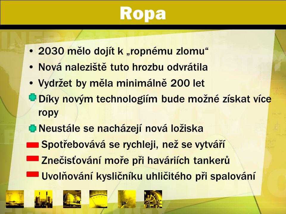 """Ropa 2030 mělo dojít k """"ropnému zlomu"""" Nová naleziště tuto hrozbu odvrátila Vydržet by měla minimálně 200 let Díky novým technologiím bude možné získa"""