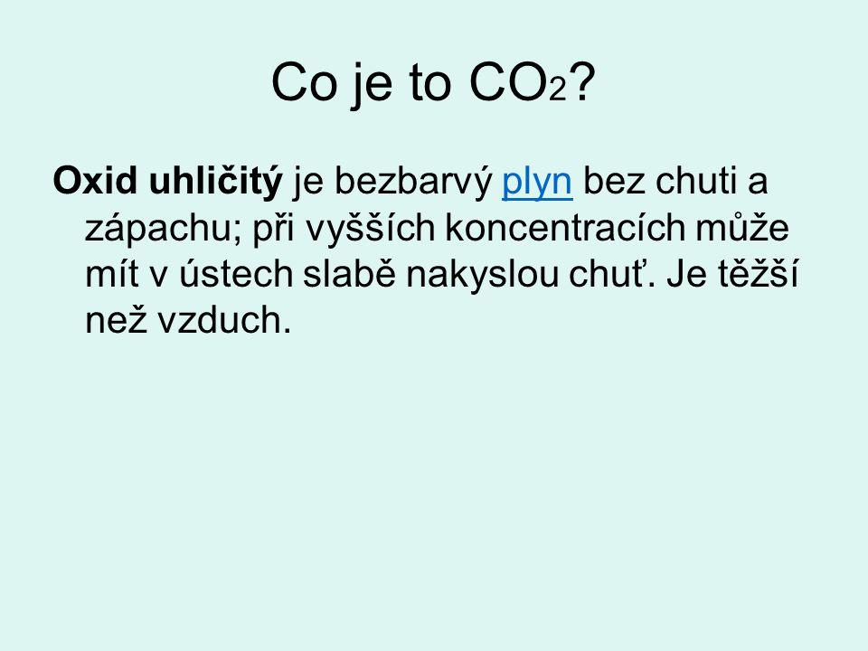 Co způsobuje zvýšená koncentrace oxidu uhličitého v ovzduší.
