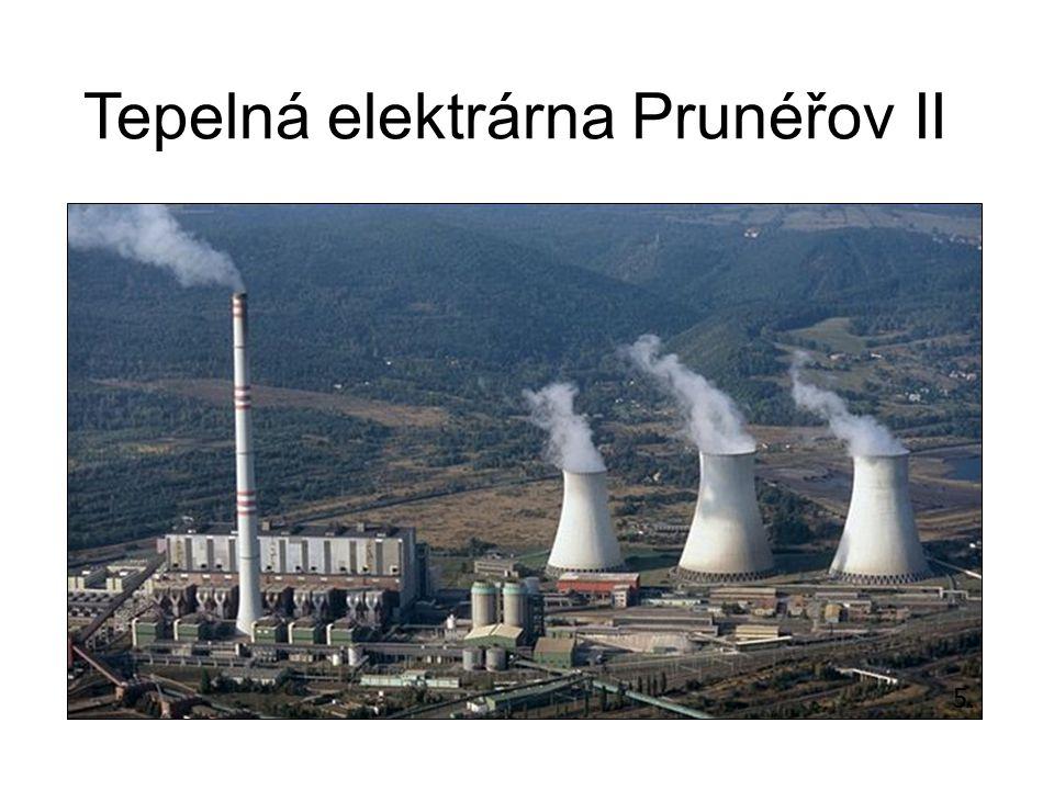 Tepelná elektrárna Hodonín Od roku 1958 (patří k nejstarším) Dva 100 m komíny od 2009 je jeden z bloků určen výhradně ke spalování čisté biomasy (denně 1200 tun) Podílí se pouze 0,69% oficiální stránky elektrárny 6.