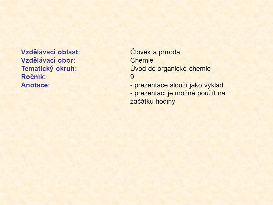 Úvod do organické chemie