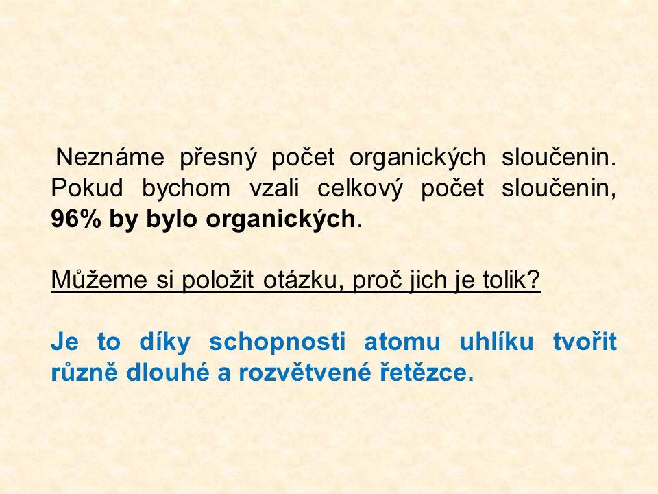Neznáme přesný počet organických sloučenin.