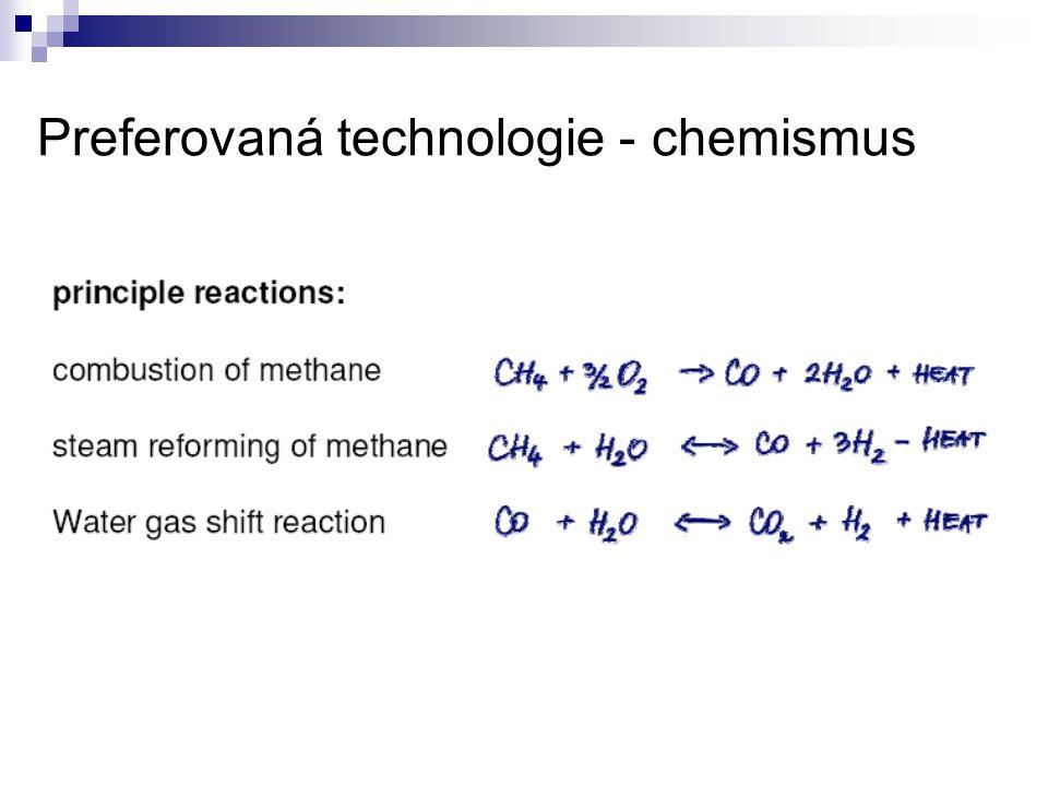 Preferovaná technologie - chemismus