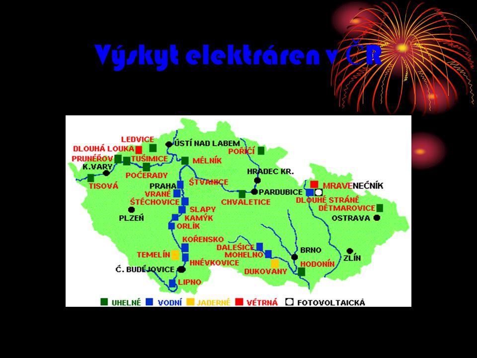 Výskyt elektráren v Č R