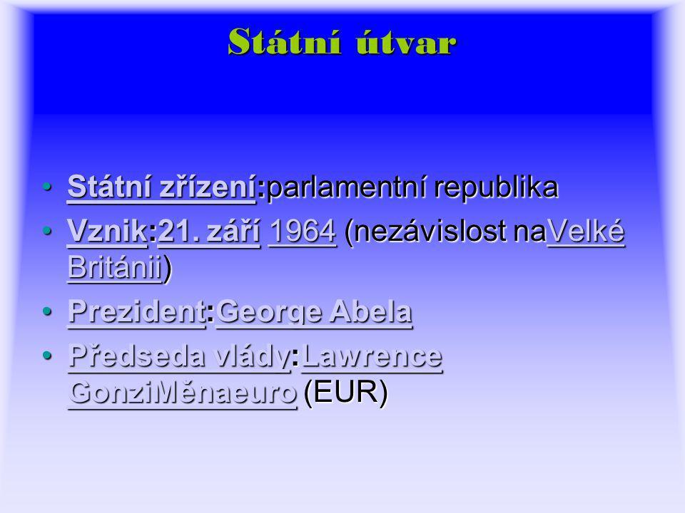 Státní útvar Státní zřízení:parlamentní republikaStátní zřízení:parlamentní republikaStátní zřízeníStátní zřízení Vznik:21.