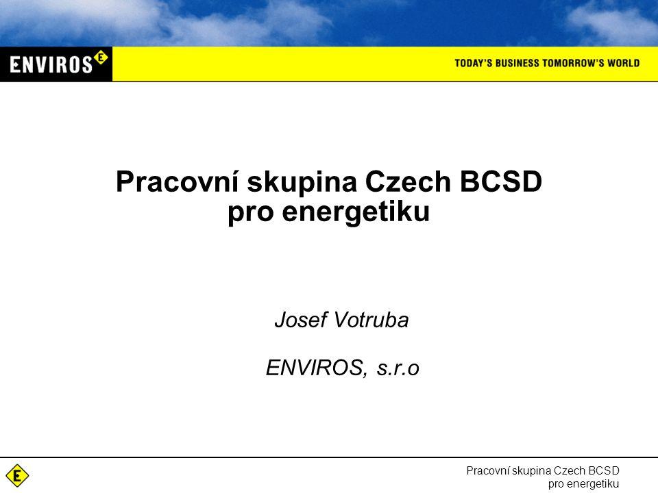 Pracovní skupina Czech BCSD pro energetiku Josef Votruba ENVIROS, s.r.o Pracovní skupina Czech BCSD pro energetiku