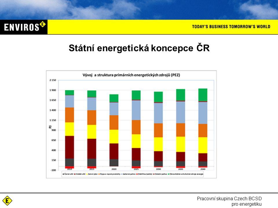 Státní energetická koncepce ČR Pracovní skupina Czech BCSD pro energetiku