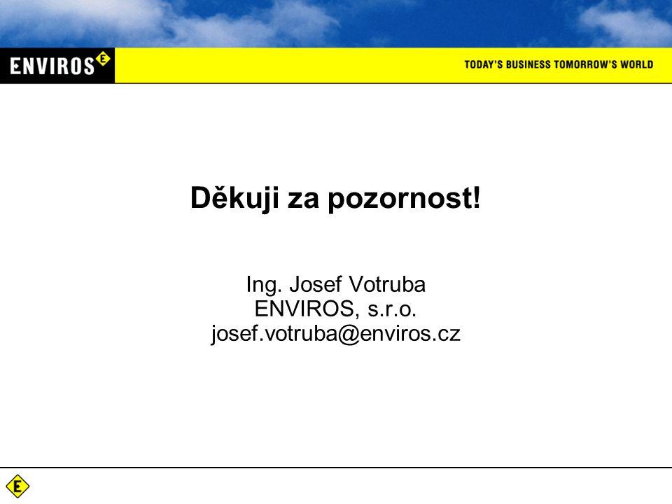 Děkuji za pozornost! Ing. Josef Votruba ENVIROS, s.r.o. josef.votruba@enviros.cz