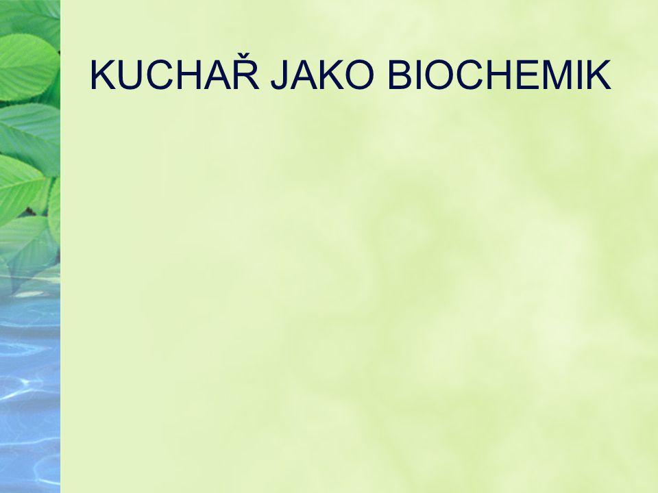 KUCHAŘ JAKO BIOCHEMIK