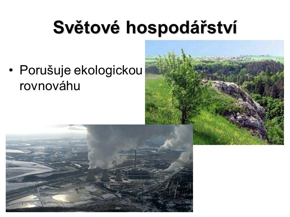 Ekologická rovnováha Stav ekosystému v němž nedochází k náhlým a drastickým změnám