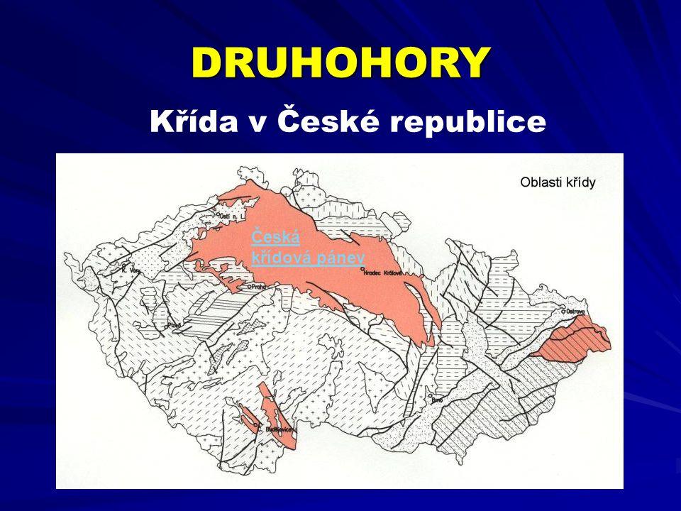 Křída v České republice DRUHOHORY Česká křídová pánev