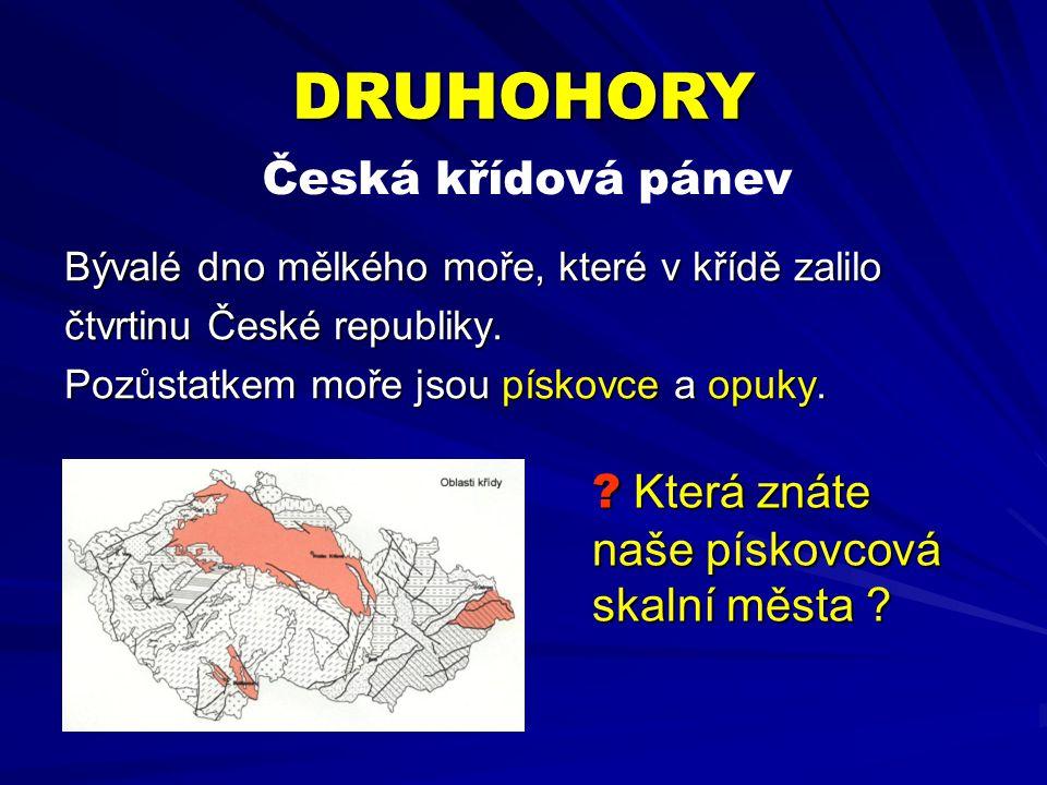 Bývalé dno mělkého moře, které v křídě zalilo čtvrtinu České republiky.