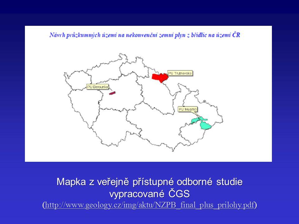 Mapka z veřejně přístupné odborné studie vypracované ČGS (http://www.geology.cz/img/aktu/NZPB_final_plus_prilohy.pdf) http://www.geology.cz/img/aktu/N