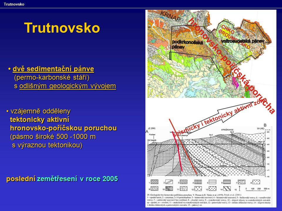 dvě sedimentační pánve dvě sedimentační pánve (permo-karbonské stáří) (permo-karbonské stáří) s odlišným geologickým vývojem s odlišným geologickým vý
