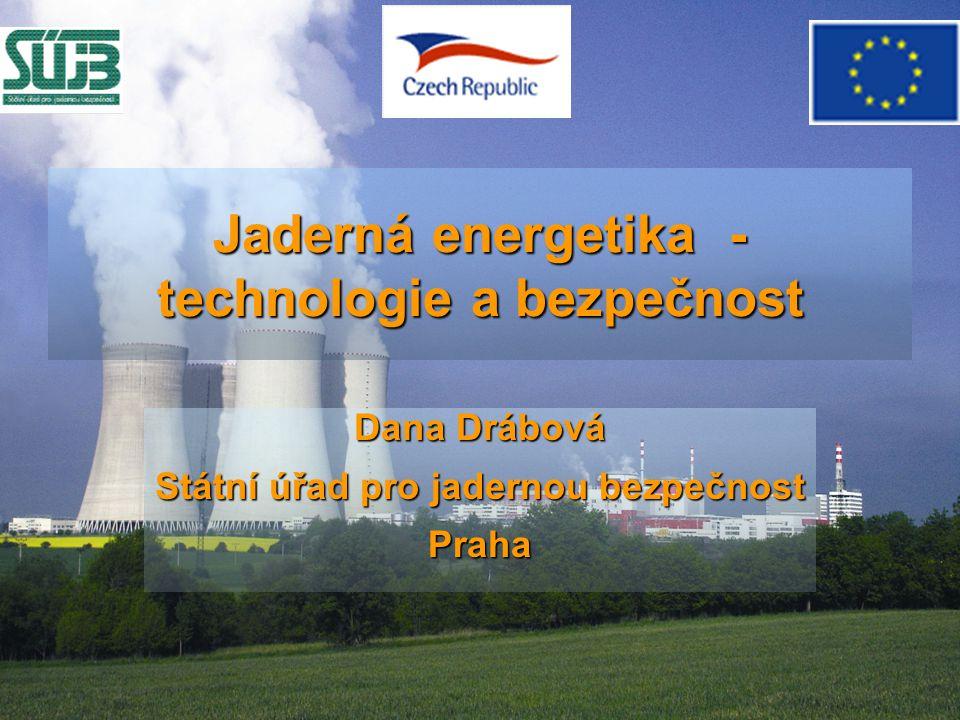 Jaderná energetika - technologie a bezpečnost Dana Drábová Státní úřad pro jadernou bezpečnost Praha