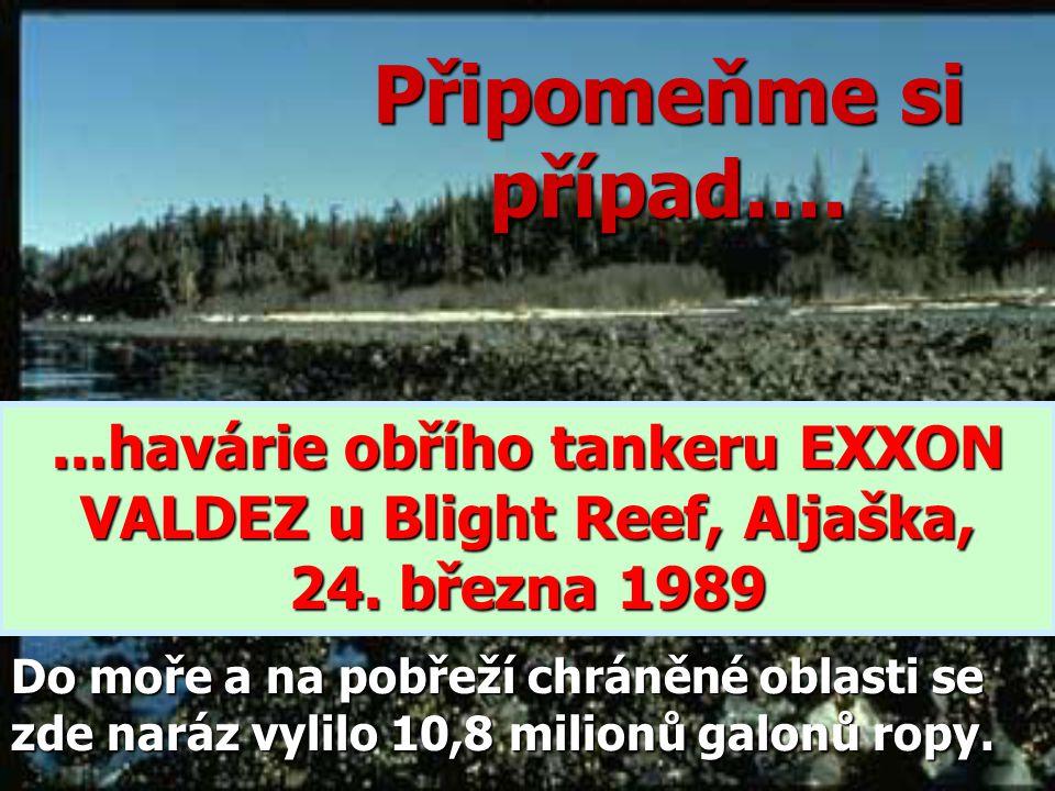Připomeňme si případ…....havárie obřího tankeru EXXON VALDEZ u Blight Reef, Aljaška, 24.