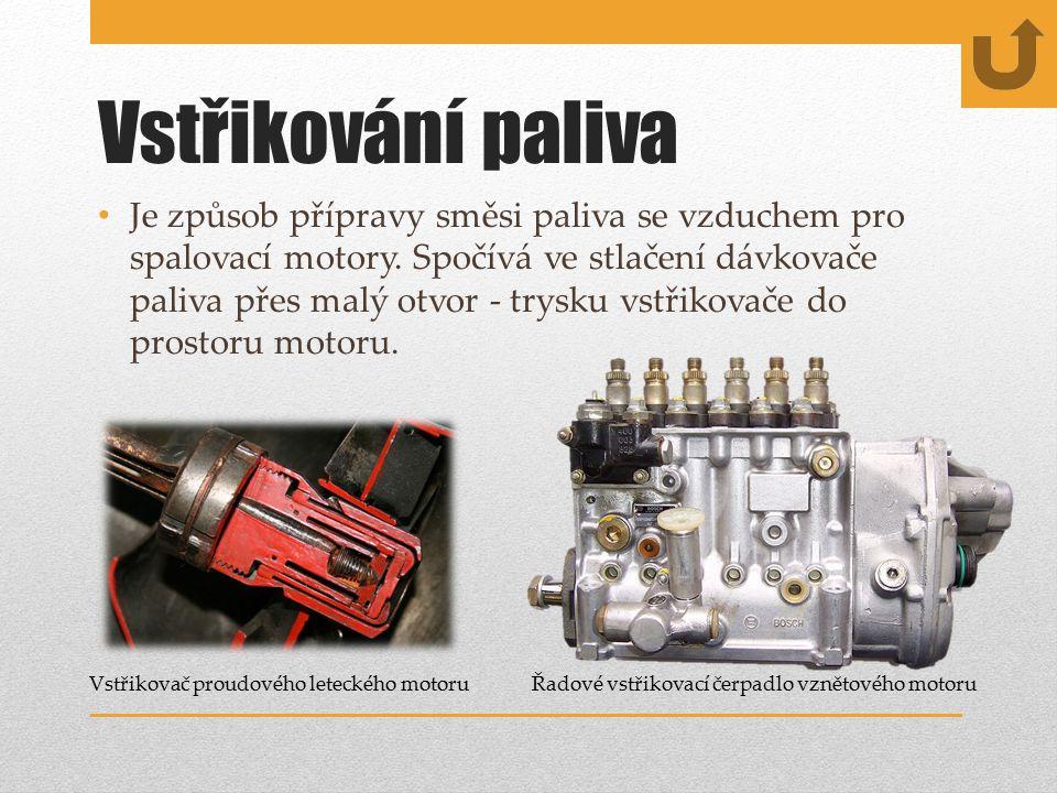 Vstřikování paliva Je způsob přípravy směsi paliva se vzduchem pro spalovací motory.