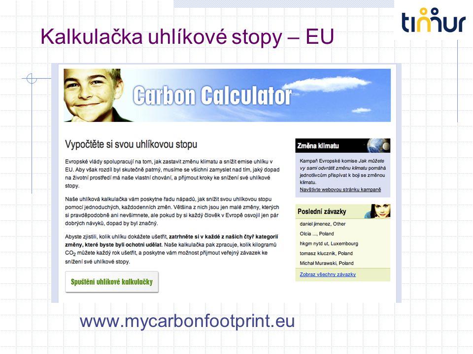Kalkulačka uhlíkové stopy – EU www.mycarbonfootprint.eu