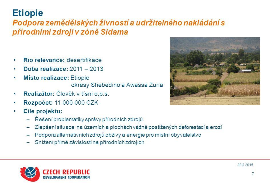 8 30.3.2015 Rio relevance: adaptace Doba realizace: 2011 – 2013 Místo realizace: Gruzie Realizátor: ČHMÚ, Glomex MS, Aquatest a.s.