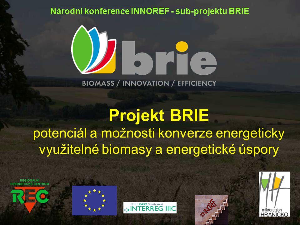 Projekt BRIE potenciál a možnosti konverze energeticky využitelné biomasy a energetické úspory Národní konference INNOREF - sub-projektu BRIE