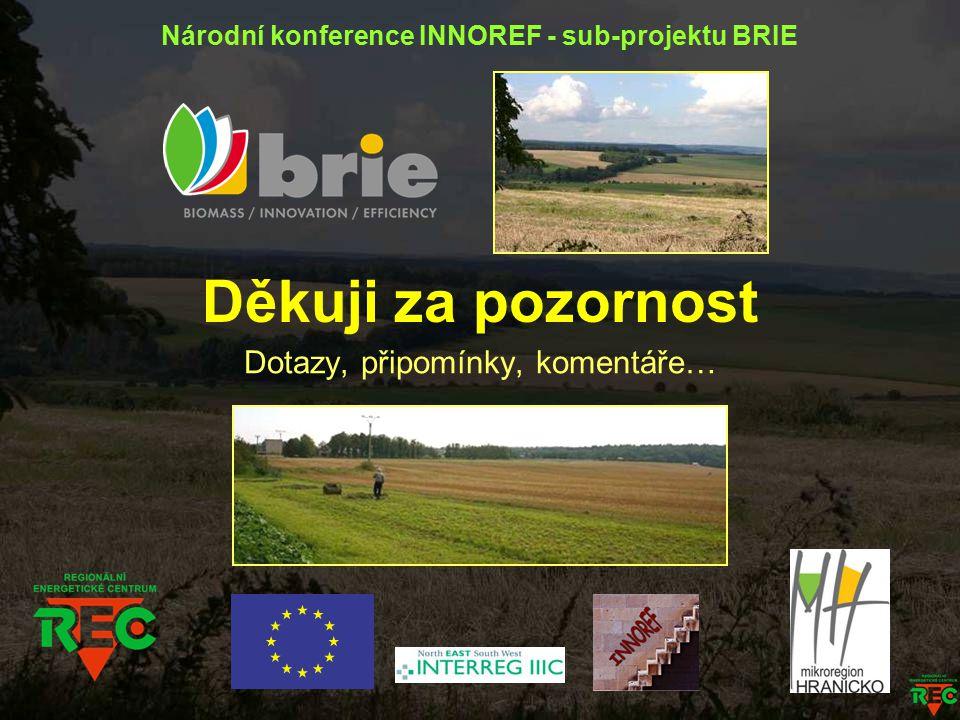Děkuji za pozornost Dotazy, připomínky, komentáře… Národní konference INNOREF - sub-projektu BRIE