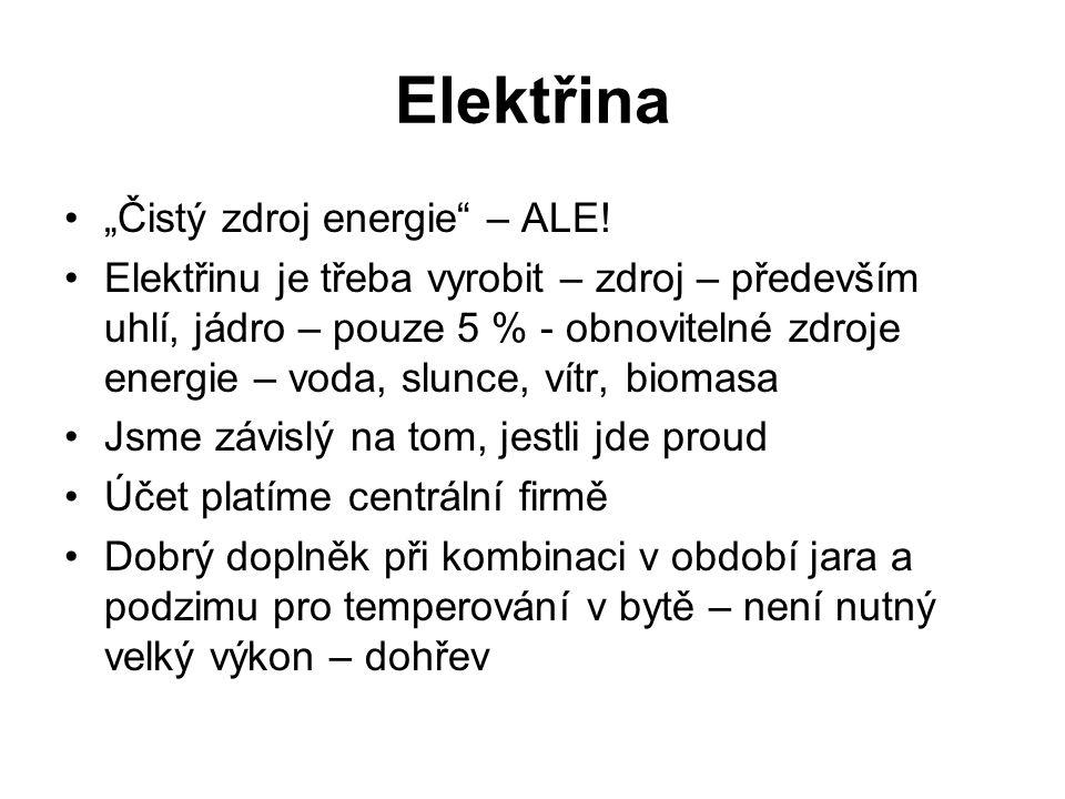 """Elektřina """"Čistý zdroj energie – ALE."""
