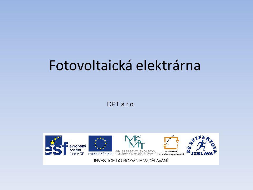 Fotovoltaická elektrárna DPT s.r.o.