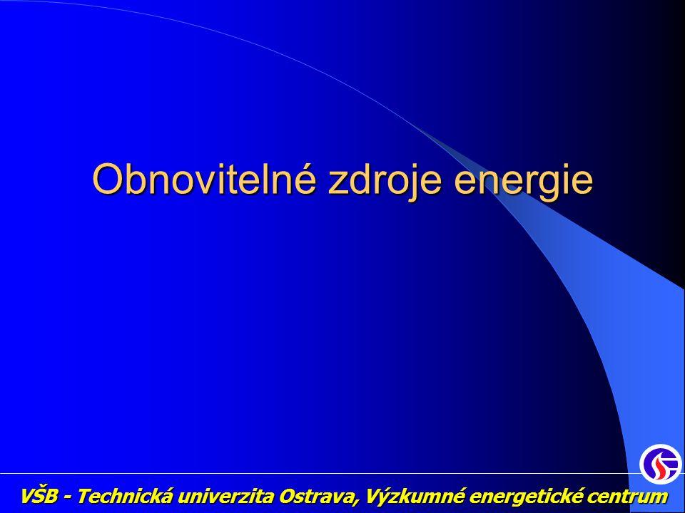 VŠB - Technická univerzita Ostrava, Výzkumné energetické centrum Obnovitelné zdroje energie