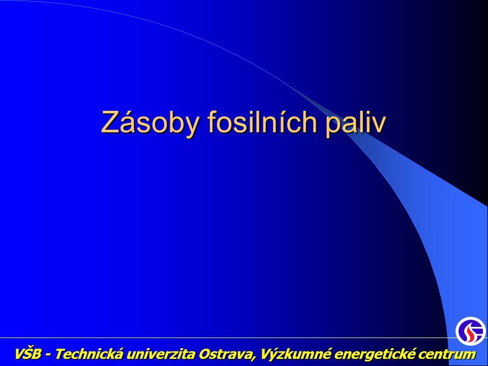 VŠB - Technická univerzita Ostrava, Výzkumné energetické centrum Zásoby fosilních paliv